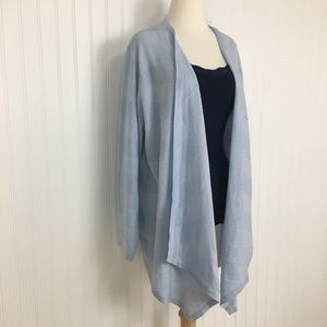 Design History open front waterfall cardigan 2X
